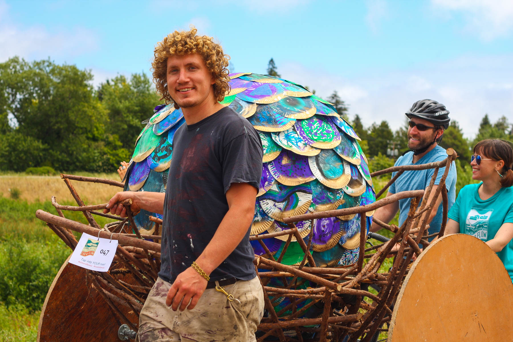 "Luke Wilson and his two-wheeled, self-righting ""Dragon Egg"" nest"